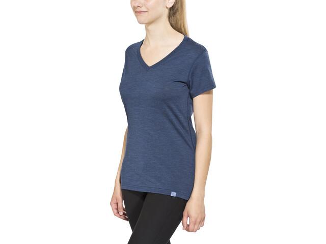 Bergans Bloom Koszulka wełniana Kobiety, navy melange